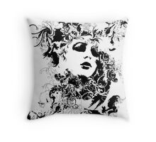 Black & White and all things nice Throw Pillow