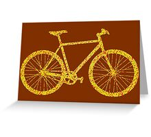 Fixie Bike Bling Greeting Card