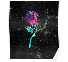 Stained Glass Rose Galaxy Poster
