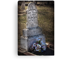 Kate's Grave Canvas Print