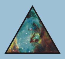 Green Galaxy Triangle Kids Clothes