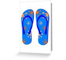 Blue Flip Flops Greeting Card