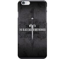 The Black Dagger Brotherhood  [white text] iPhone Case/Skin