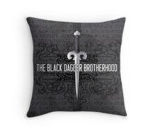 The Black Dagger Brotherhood  [white text] Throw Pillow