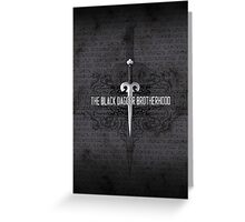 The Black Dagger Brotherhood  [white text] Greeting Card