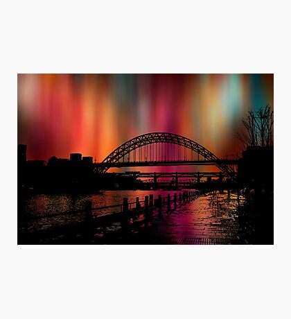 The downtown lights Photographic Print