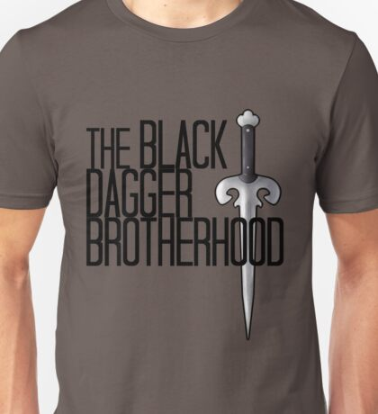 The BLACK DAGGER BROTHERHOOD   [black text] Unisex T-Shirt