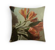 ~ Alstroemeria & Chrysanthemum ~ Throw Pillow