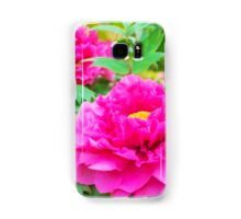 Red flowers of Peony Samsung Galaxy Case/Skin