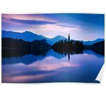 Sunrise at Lake Bled Poster