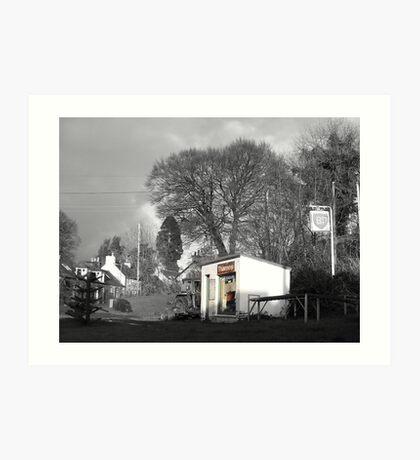 The Village Garage Art Print