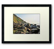 Alderney Coastline Framed Print