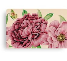 Pretty in Flowery Pink Canvas Print