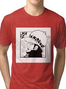 Chibi Law line Tri-blend T-Shirt