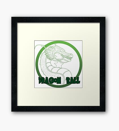 Dragon Ball -Mortal kombat logo style Framed Print