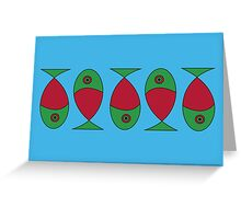Sardines Card Greeting Card