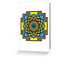 Flower of Life Psychedelic Mandala Greeting Card
