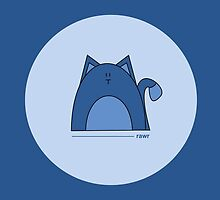 Blue Cat Card by Louise Parton