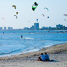 Kite Surfers take over the sky of Melbourne #2 by Mark Elshout