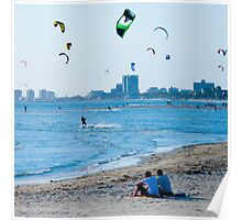 Kite Surfers take over the sky of Melbourne #2 Poster