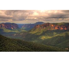 Student Of Light - Govetts Leap, Blue Mountains World Heritage Area - The HDR Experience Photographic Print