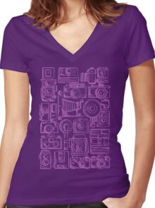 Paparazzi Purple Women's Fitted V-Neck T-Shirt