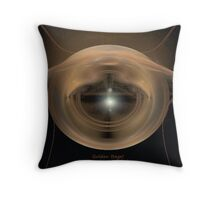 Golden Bagel Throw Pillow