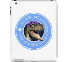 Velociraptor Punkrocker 2.0 iPad Case/Skin