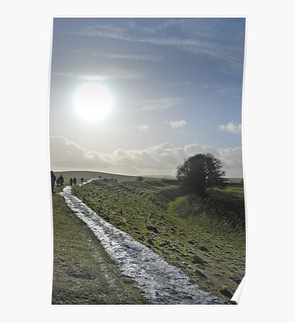 Walking the Avebury Ditch Poster