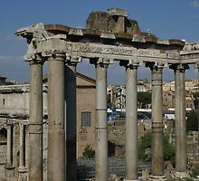 Temple of Saturn, The Forum, Rome by BronReid
