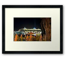 Brilliance of the Sea at night Framed Print