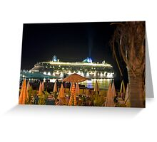 Brilliance of the Sea at night Greeting Card