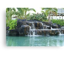Restful Fountain Canvas Print