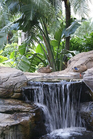 Restful Fountain by Loisb