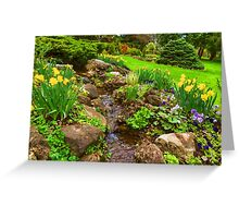 The Little Creek in the Garden - Impressions Of Spring Greeting Card
