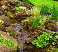 The Little Creek in the Garden - Impressions Of Spring Sticker