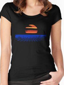 Digital Sunset T-shirt Women's Fitted Scoop T-Shirt