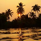 Milky Sunset -- Backwaters, Kerala (India)  by Gorper