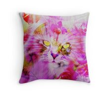Sweety Cat Throw Pillow