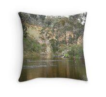 Lerderderg River  - so peaceful Throw Pillow