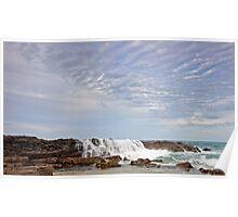 Oceanic Waterfall Poster