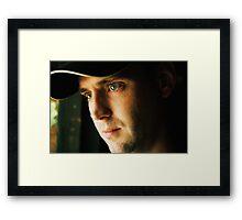 Sun Lit Eyes Framed Print