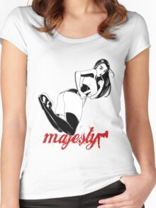 Majesty inked Pinup Women's Fitted Scoop T-Shirt