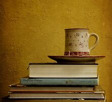 tea mug on books by ciscolo