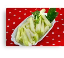 Healthy Green Fingerfood Sticks Canvas Print