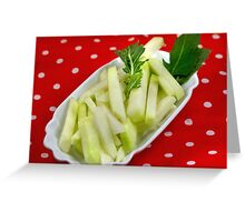 Healthy Green Fingerfood Sticks Greeting Card