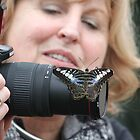 Butterfly likes camera by DutchLumix