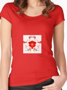 The Regal Dog Rose Women's Fitted Scoop T-Shirt