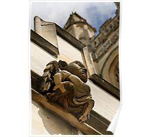 Gargoyle, Magdalen college, Oxford Poster