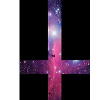 Purple Galaxy Inverted Cross Photographic Print